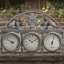 Tonasket Garden Wall Clock Sol 72 Outdoor