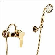 TONGDAUR Gold Bathroom Shower Faucet Set Diverter
