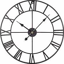 TONGJI 40CM Large Wall Clock Non Ticking- Vintage