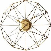 TONGJI 50CM Large Wall Clock Non Ticking- Vintage