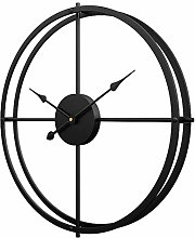 TONGJI 60CM Large Wall Clock Non Ticking- Vintage