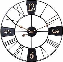 TONGJI 60CM Large Wall Clock Non Ticking - Vintage