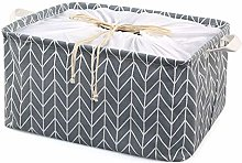 TonStyle Fabric Storage Basket, Square Cotton