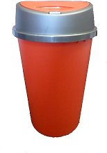 Tontarelli 45L ALL RED TOUCH TOP BIN/KITCHEN