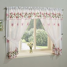 Tony's Textiles Embroidered Daisy Floral Pink