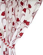 Tony's Textiles Leiden Floral Red & White