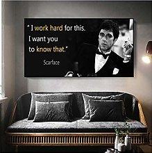 Tony Montana Portrait Canvas Painting Poster