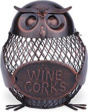Tooarts Owl Money Box Money Bank Wine Corks