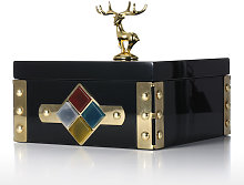 Tooarts - Place Gold Jewelry Box - Large Size Deer