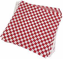 TOOGOO 100 PCS checkered deli candy basket liner