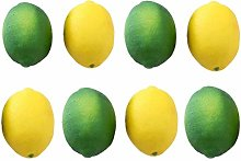 TOOGOO 8 Pack Artificial Fake Lemons Limes Fruit
