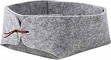 TOOGOO Felt Storage Box Desktop Tray Fruit Bowl