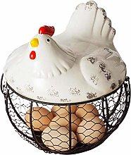 TOOGOO Iron Egg Storage Basket Snack Fruit Basket