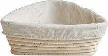 TOOGOO Rattan Oval Triple-Cornered Proofing Bread