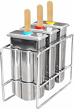 TOOGOO Set Of 3 Reusable Stainless Steel Popsicle