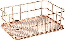 TOOGOO Storage Basket metal Wire Bathroom Shelves