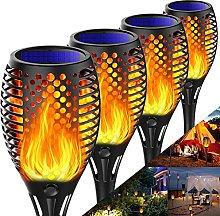 Tooklanet Solar Flame Light Garden Torches Solar