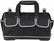 Tool Bag - 17in Plastic Bottom Bag Gray Hand