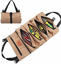 Tool Bag Roll Up Canvas Wrench Roll Pouch Foldable