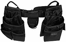 Tool Belt Apron Pouch Set 15 Pocket Heavy Duty