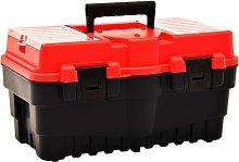 Tool Box Plastic 462x256x242 mm Red - Red