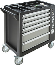 Tool box with wheels and tools 1399 PCs. - grey