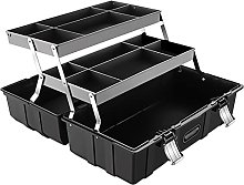 Tool Case Organizer Tool Box with Removable Tray