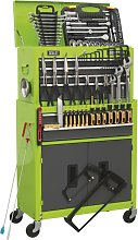 Tool Chest Combo 6 Drawer - Green/Grey & 128pc