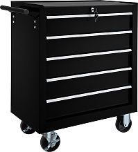 Tool chest with 5 drawers - black