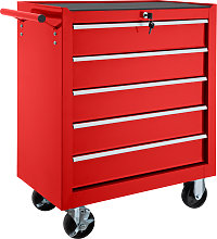 Tool chest with 5 drawers - red