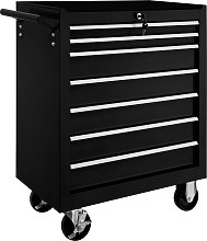 Tool chest with 7 drawers - black
