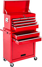 Tool chest with 8 drawers - red
