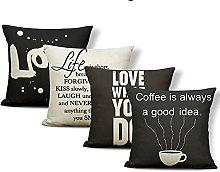 Tool Cushion Case Coffee Cup Black Pillowcases