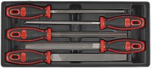 Tool Tray with Engineer's File Set 5pc - Sealey