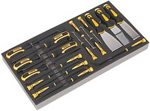 Tool Tray with Hook & Scraper Set 18pc - Sealey