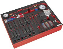 Tool Tray with Impact Wrench Sockets & Tyre Tool