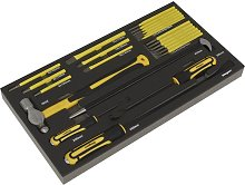 Tool Tray with Pry Bar Hammer & Punch Set 23pc -