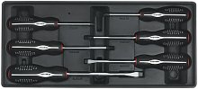Tool Tray with Screwdriver Set 6pc - Sealey