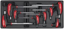 Tool Tray with T-Handle Ball-End Hex Key Set 8pc -