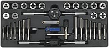 Tool Tray with Tap & Die Set 33pc - Sealey