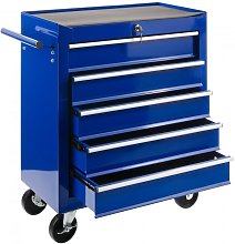 Tool Trolley 5 Drawers Mobile Workshop Trolley blue