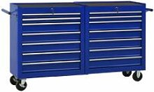 Tool Trolley with 14 Drawers Steel Blue