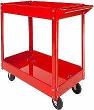 Tool trolley with 2 shelves - heavy duty trolley,
