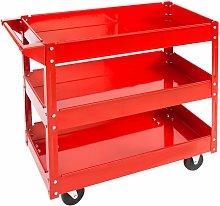 Tool trolley with 3 shelves - heavy duty trolley,