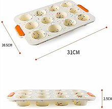 Tool Wertytr 12 Holes Non-stick Silicone Muffin