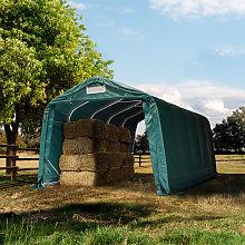 TOOLPORT Farm storage tent 3.3x6.0m, PVC 550, dark