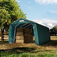 TOOLPORT Farm storage tent 3.3x7.2m, PVC 550, dark