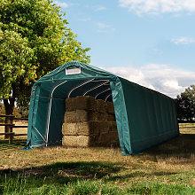 TOOLPORT Farm storage tent 3.3x8.4m, PVC 550, dark