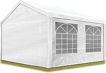 TOOLPORT Party Marquee 3x4 m in white 180 g/m² PE