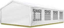 TOOLPORT Party Marquee 5x8 m in white 180 g/m² PE